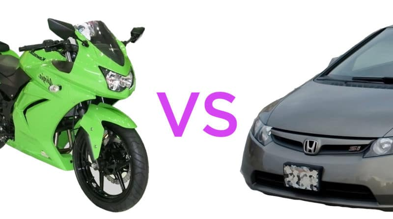 Motorcycle vs Car