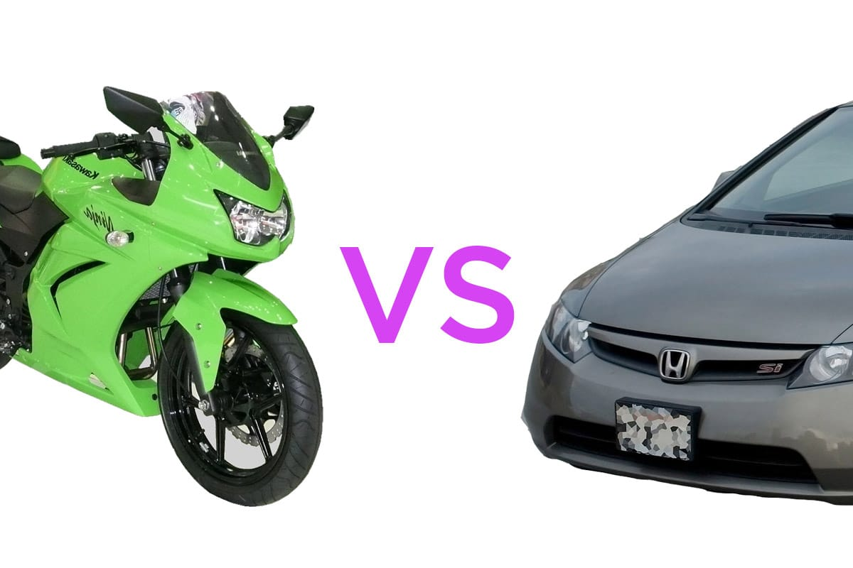 Motorcycle vs Car